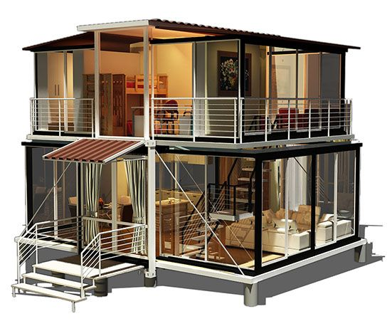 ebs block residential container home double cottages. Black Bedroom Furniture Sets. Home Design Ideas