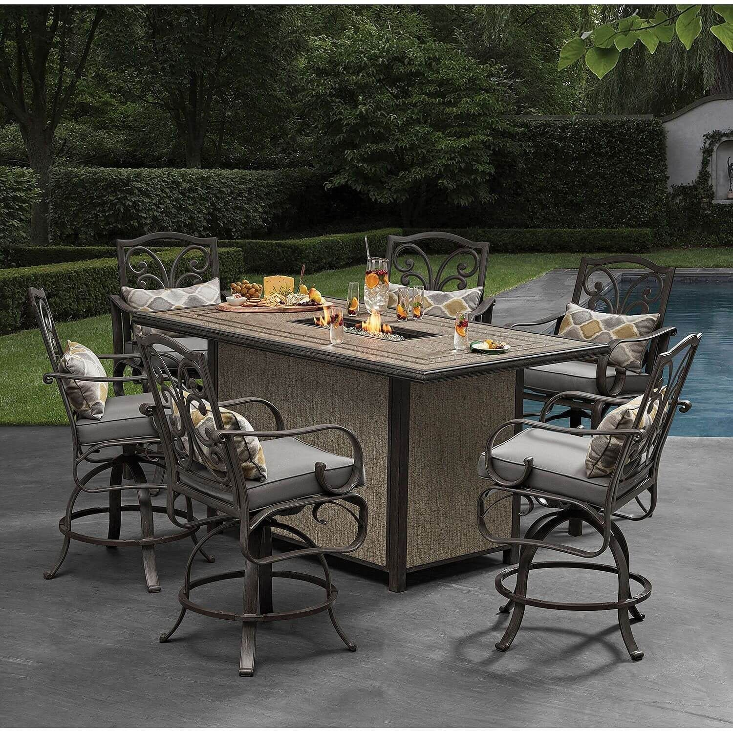 Choosing The Right Bar Height Patio Table In 2021 Bar Height Patio Furniture Patio Furniture Collection Patio Dining Furniture