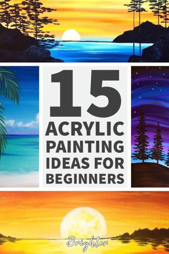 15 Acrylic Painting Ideas For Beginners - Brighter Craft ...