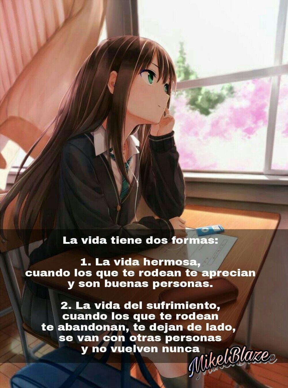 frases hermosas de anime: Frases Anime, La Vida, Vida Hermosa, Vida Del Sufrimiento