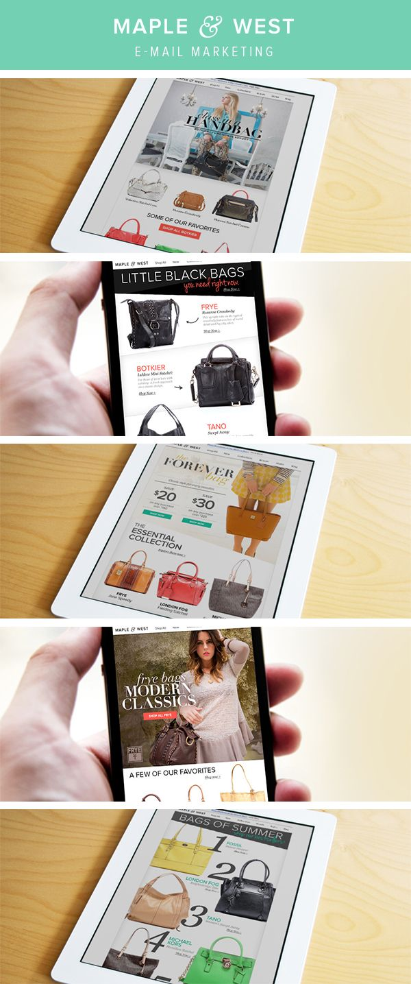 Maple & West // E-mail Marketing by Susan Glodich, via Behance