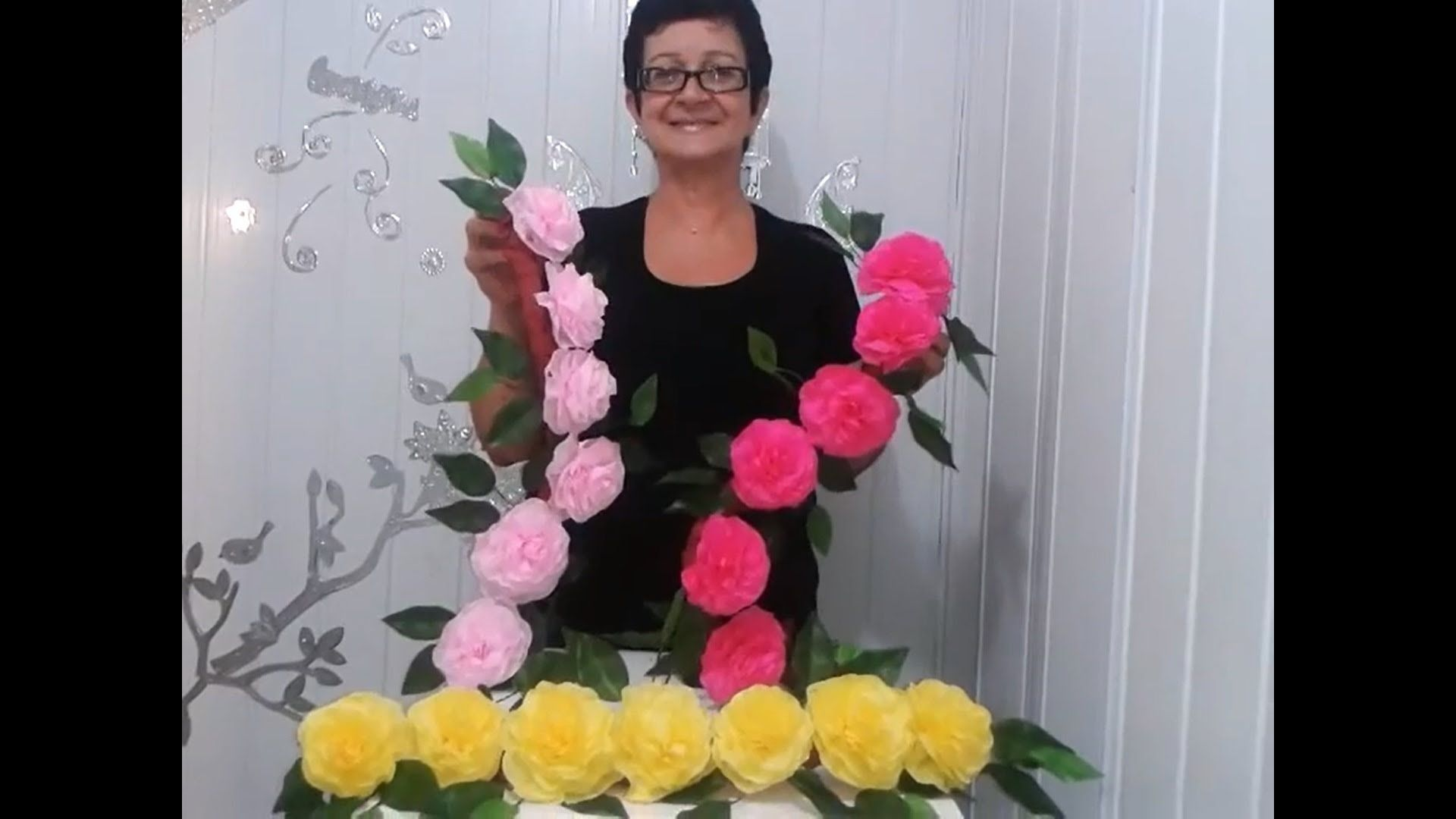 Aula 4 Como Fazer Arranjo Com Flores De Papel Crepom Parte 2