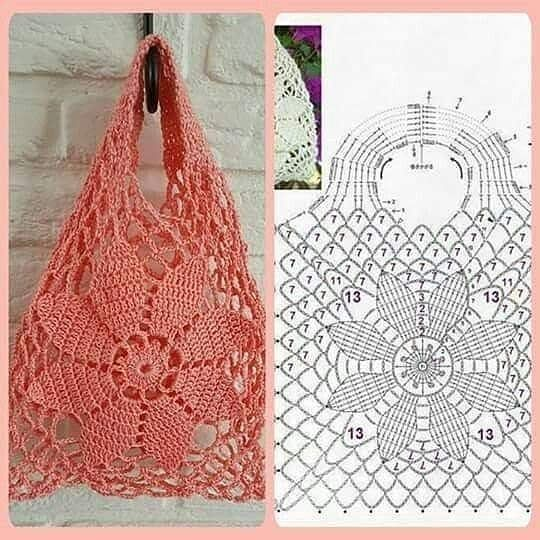 """CraftingPassion on Instagram: """"Shopping crochet bag pattern .. Rate it ( 1 to 10 ).. What is the color of your crochet shopping bag ?? � . #crochetstepbystep #crochetbag…"""""""