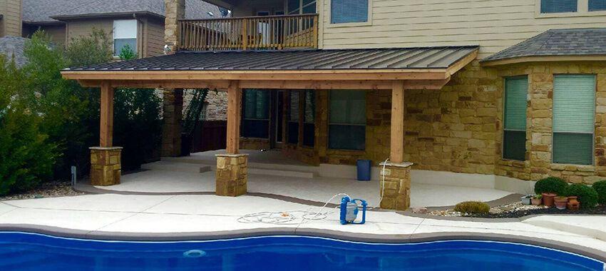 Capital Build Deck Builders Austin Outdoor Kitchen Patios Pergola Outdoor Covered Patio Deck With Pergola