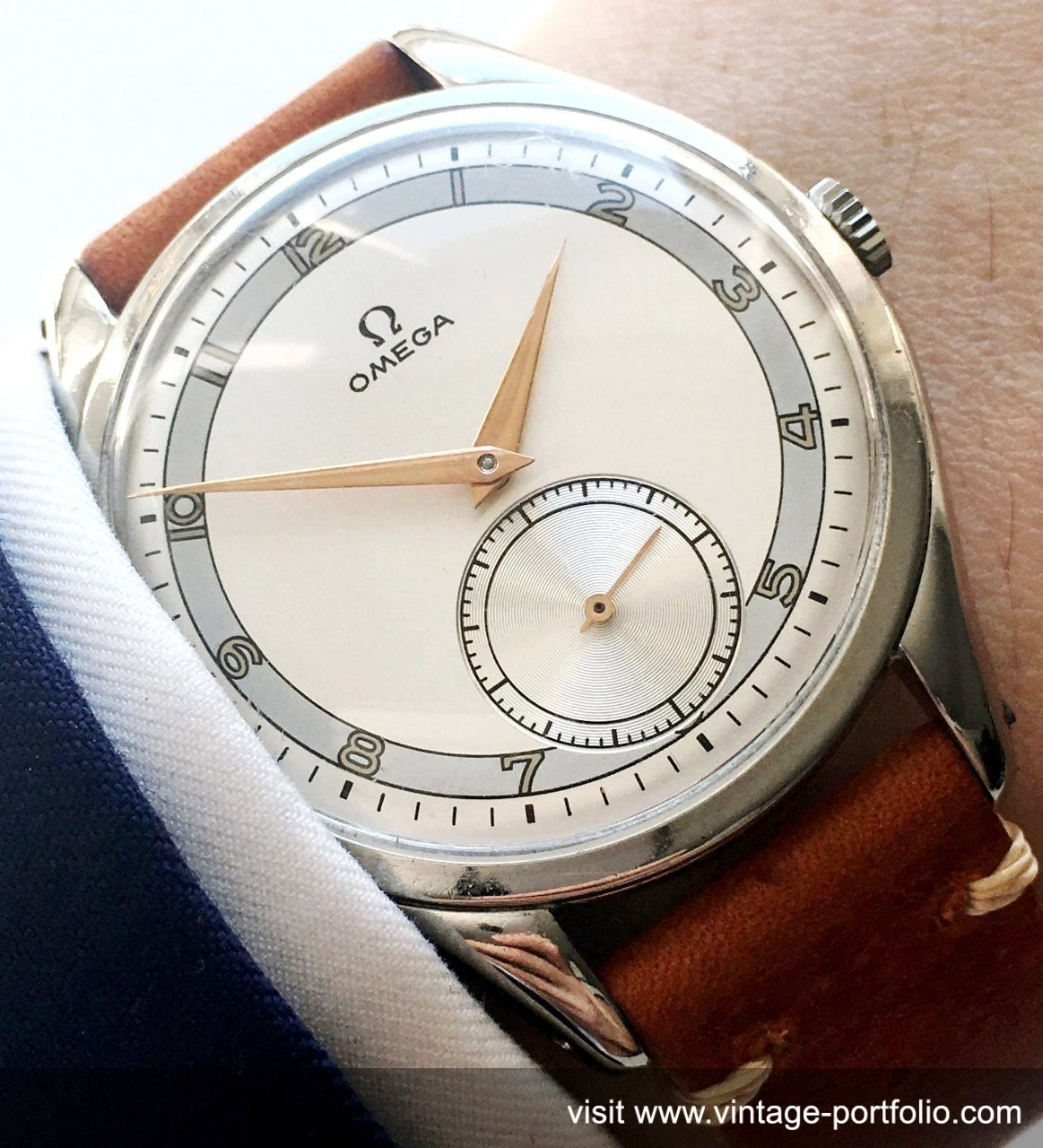 Tone Dial Oversize 39mm Jumbo Ww2Vintage Two Omega T1J3lcuKF