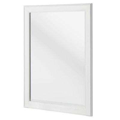 Gazette 32 In L X 24 In W Framed Wall Mirror In White Frames On Wall White Mirror Frame Framed Mirror Wall