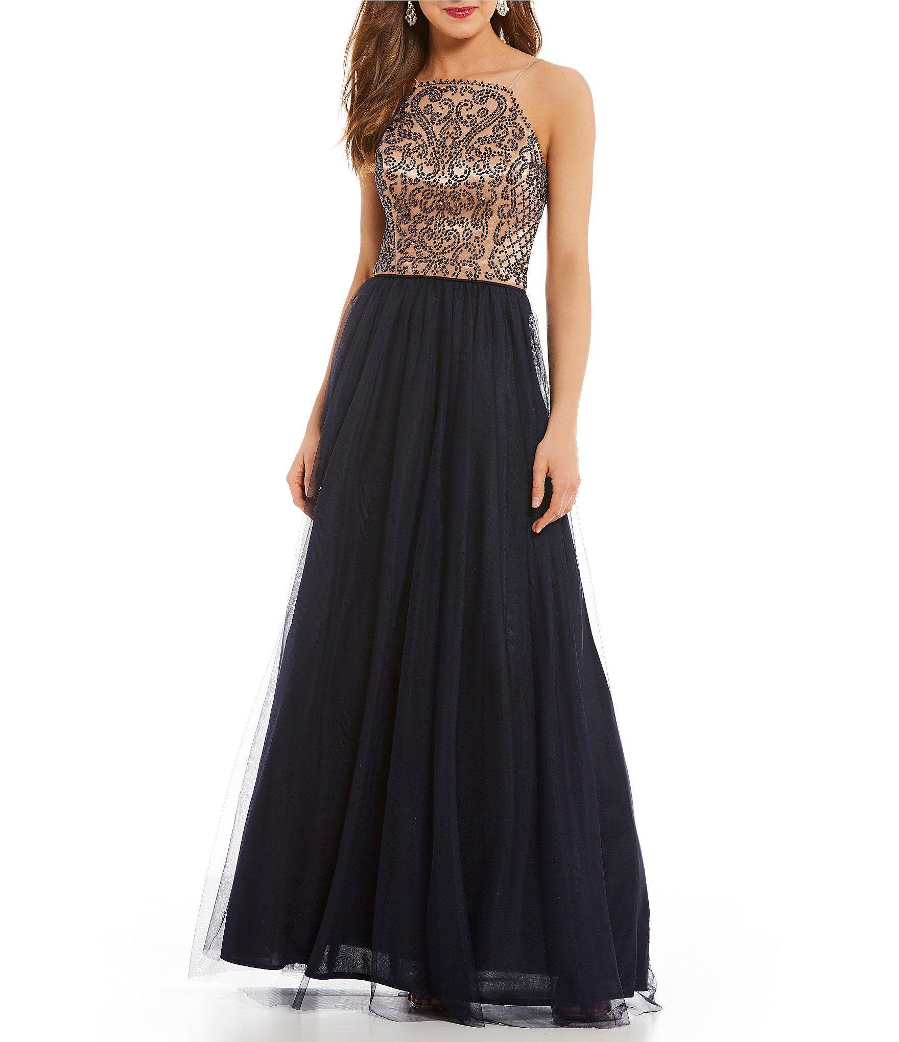f47da825bfc Blondie Nites Beaded Bodice Ball Gown  Dillards