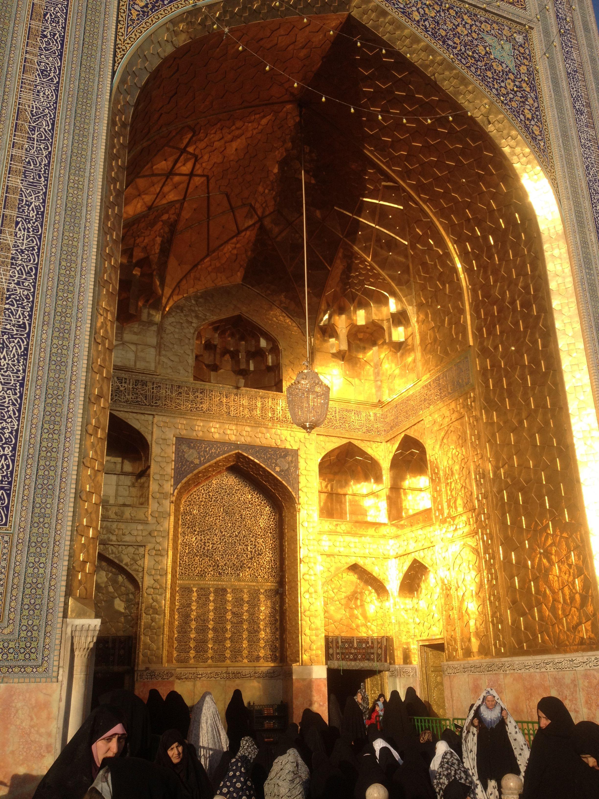 Maula Ali Shrine Wallpaper: The Entrance To The Shrine Of Imam Ali Raza (a.s.w.s.) In