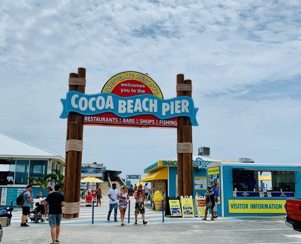 Cocoa Beach Pier A Destination Location Cocoa Beach Restaurants Cocoa Beach Florida Cocoa Beach