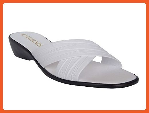 b871b06316 Damiani's By Italian Shoemakers Slip on Wedge Style #168 Made in Italy  White (5) - Sandals for women (*Amazon Partner-Link)