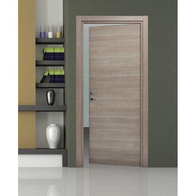 bloc porte summa gris clair - castorama | maison | pinterest