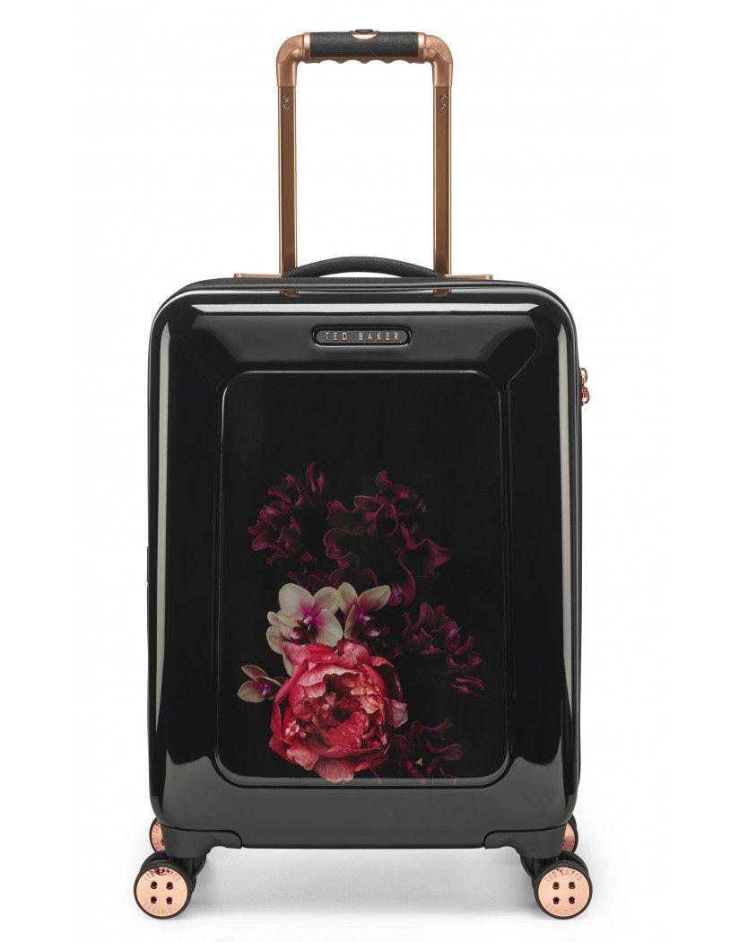 8f05dbf9a Ted Baker Women's Splendour Small 4-Wheel Cabin Case - Black ...
