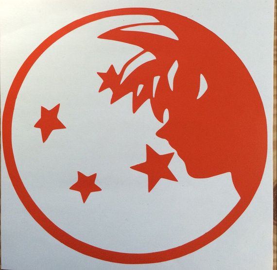 Dragon ball z inspired vinyl sticker decal car window sticker