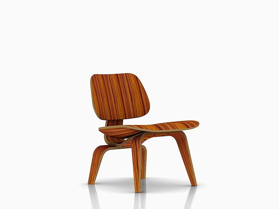 Eames molded plywood lounge chair with wood base chair