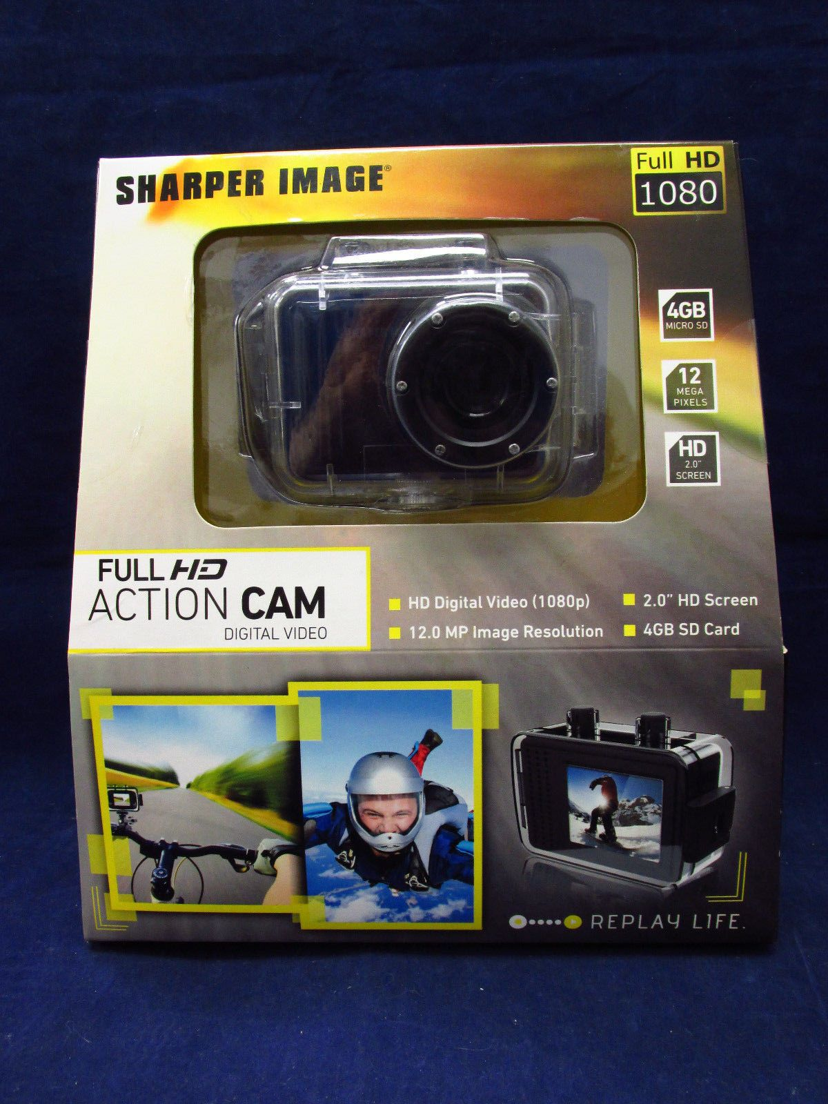 Nib Sharper Image Full Hd Action Cam Digital Video Camera Full Hd