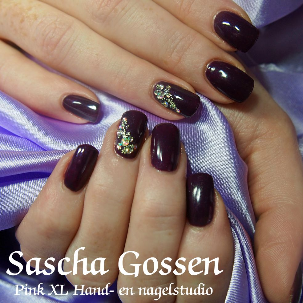 Contemporary Deep Purple Nail Designs Motif - Nail Art Ideas ...