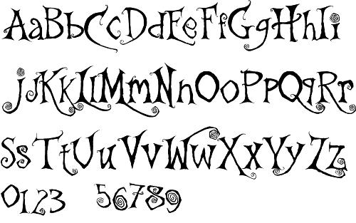 German expressionism   fonts   Tim burton font, Tim burton