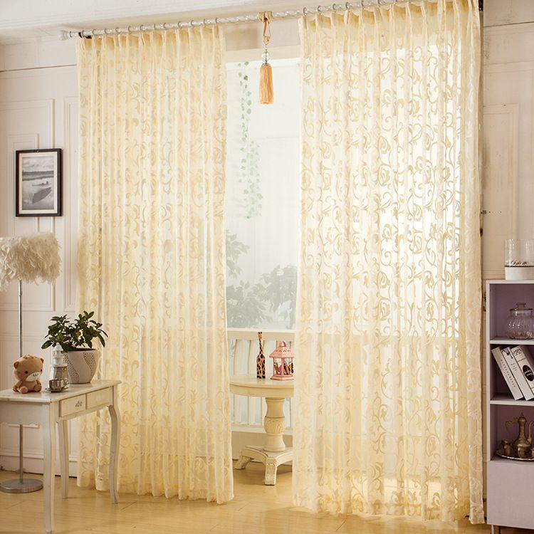 ZHH 2016 New Fashion Punching Jacquard Window Curtain European Style