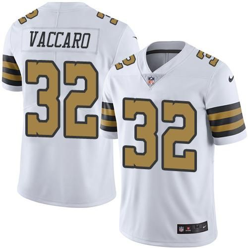 quality design 7c497 7951b Nike Saints #32 Kenny Vaccaro White Men's Stitched NFL ...