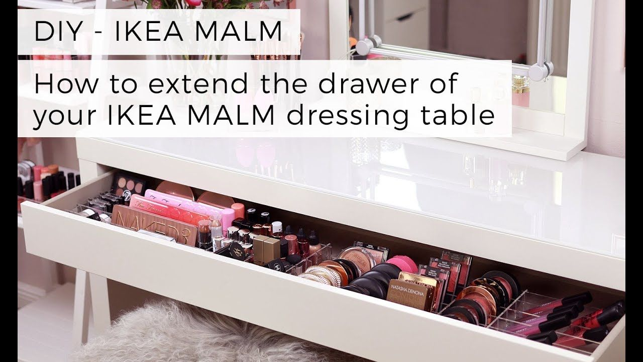 Diy Tutorial For More Space In Your Vanitydesk Malm Dressing Table Ikea Malm Ikea Malm Dressing Table