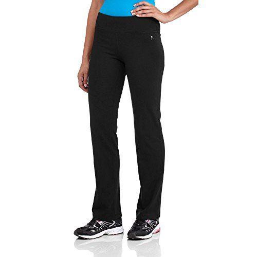 Danskin Now SemiFitted Straight Leg Yoga Workout Pants Regular  Petite XSmall Black * Visit the image link more details.