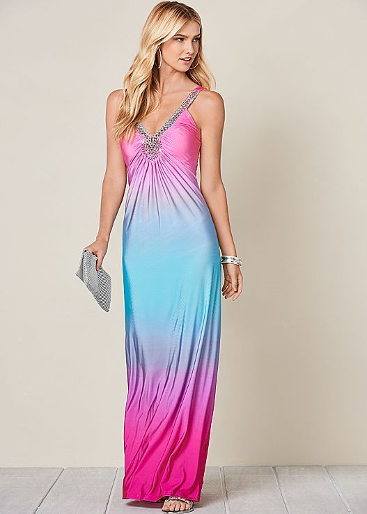 3a3435e143c87 Wildfox Couture I Am The Ocean Gown in Multi | HAIR MAKEUP CLOTHES