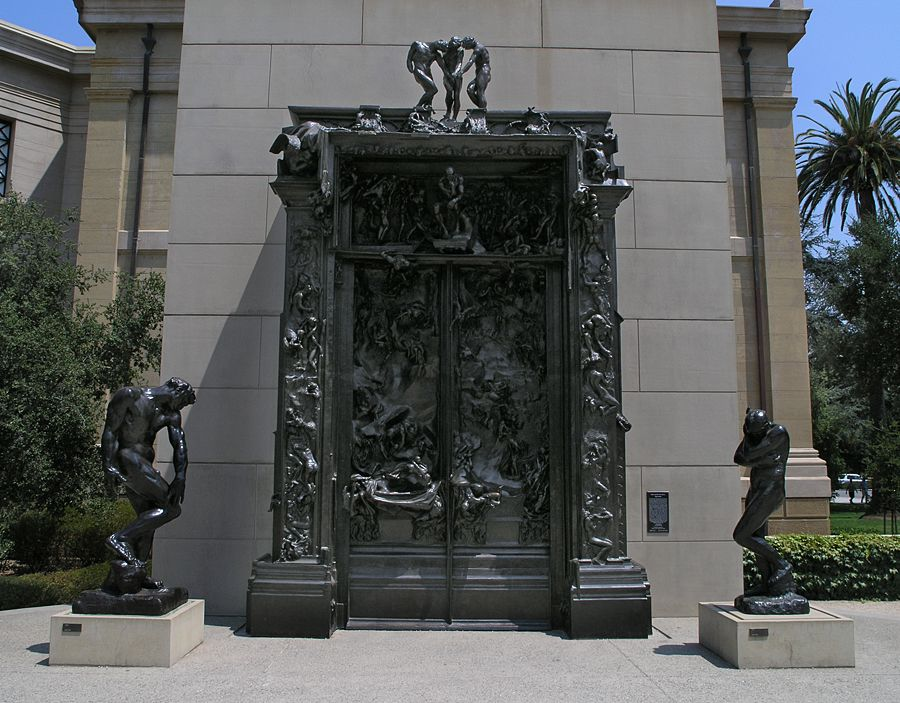 Over The Garden Walk: The Gates Of Hell By Rodin At Stanford University's Rodin