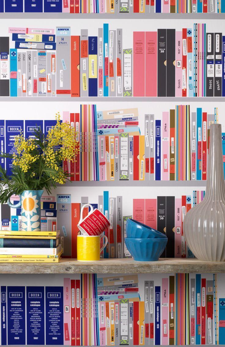 Tapete Bücherregal tapete bücherregal illusion wandgestaltung inspiration