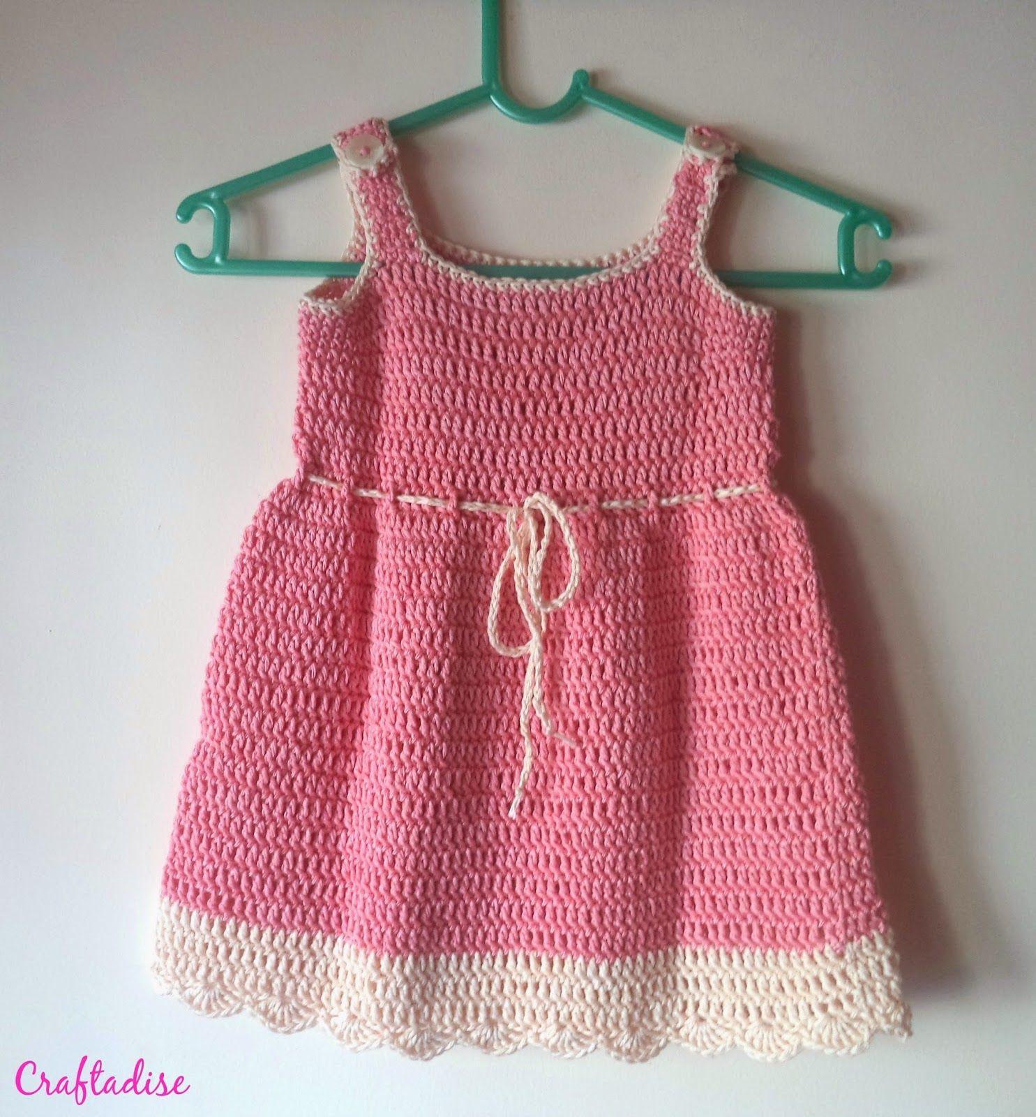 Free Crochet Pattern: Crochet Summer Peach Toddler Dress   Baby ...