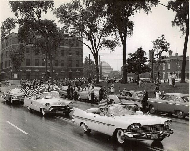 Parade On Main Street Warren Ohio Circa 1960 Youngstown Ohio Ohio Warren Ohio