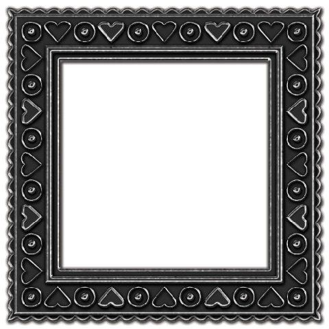 assorted layered frames in photoshop psd and png formats gray and pewter heart design square