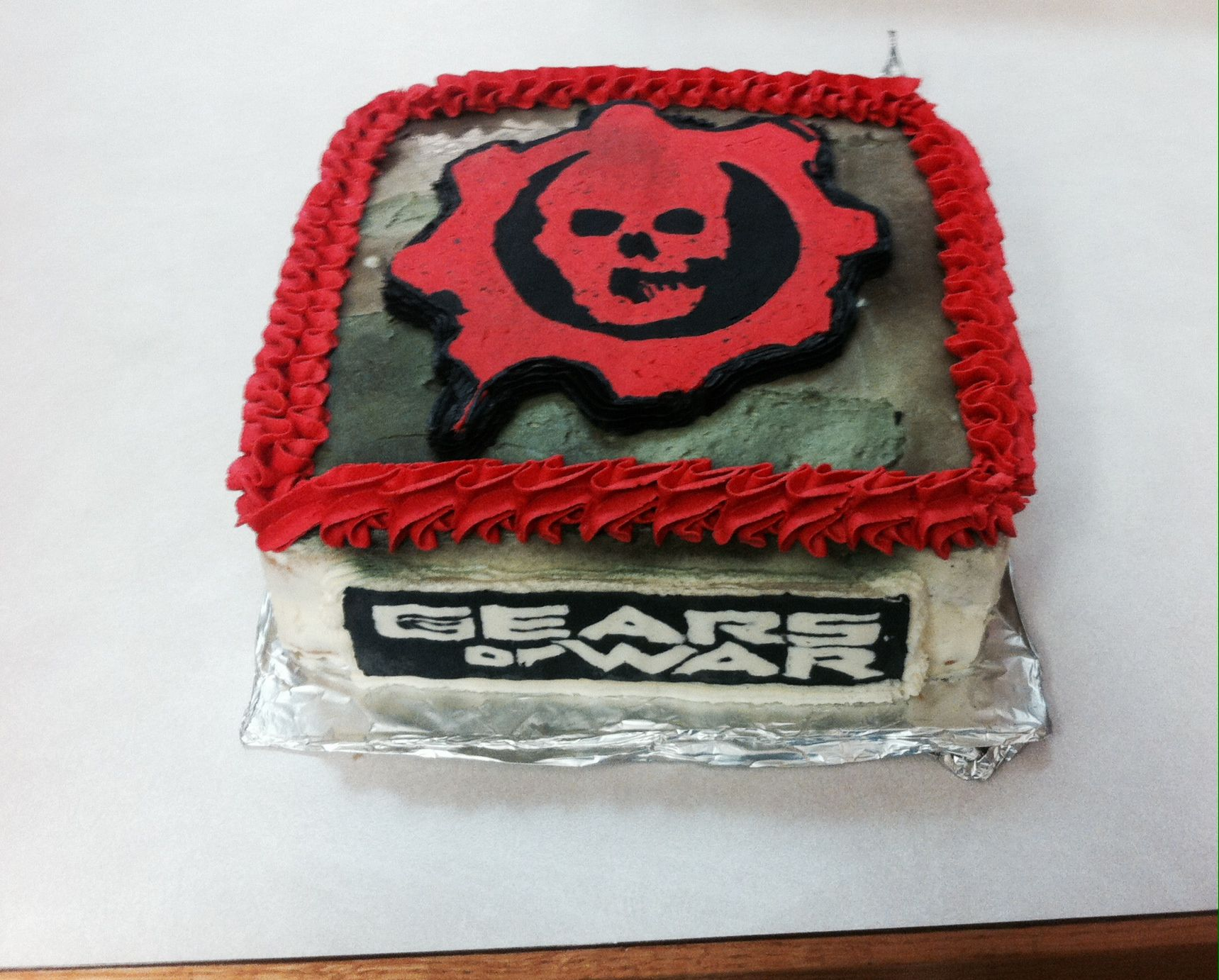 Gears of war cake recipe
