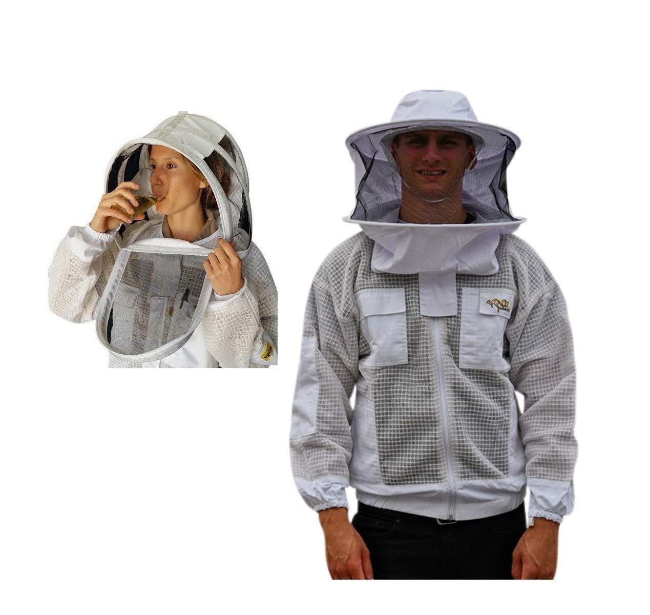 Beekeeping jacket-Ventilated Beekeeping Jacket 4 Pockets 3 layer jacket 4 pocket