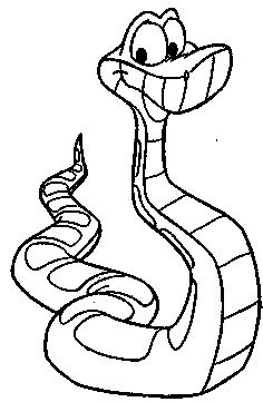 Jungle Book Coloring Pages Kaa The Snake In 2020 Snake Coloring Pages Coloring Pages Coloring Books