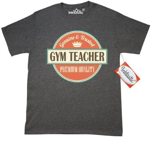 Inktastic Physical Education Teacher Funny Gift Idea T-Shirt Retired Occupations