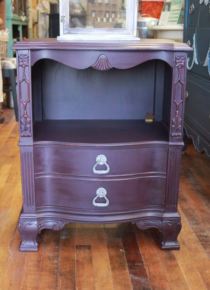 Black Cherry Wise Owl Chalk Synthesis Paint Furniture