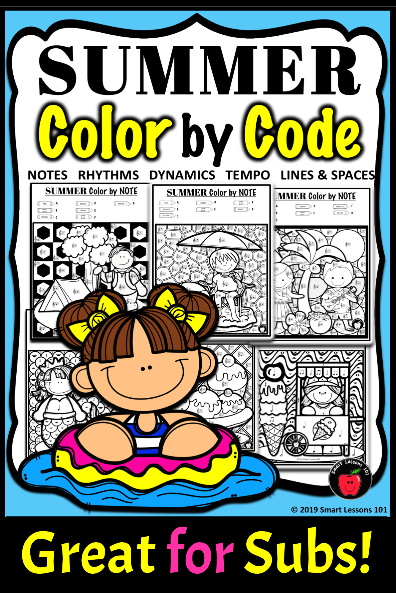Summer Music Color By Code Color By Note Color By Rhythm
