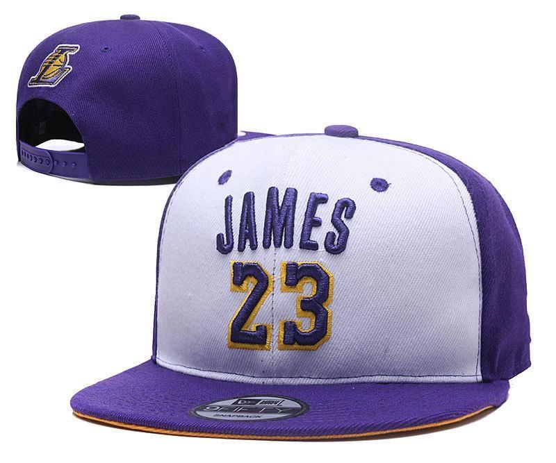 0114c666836ab 2018 New Basketball Team Snapback Hats LA Lebron James 23 Snap Back Hats  Womens Mens Flat