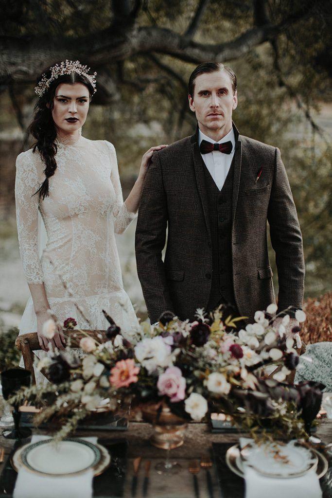 Dark and Moody Halloween Wedding Styled Shoot Gothic