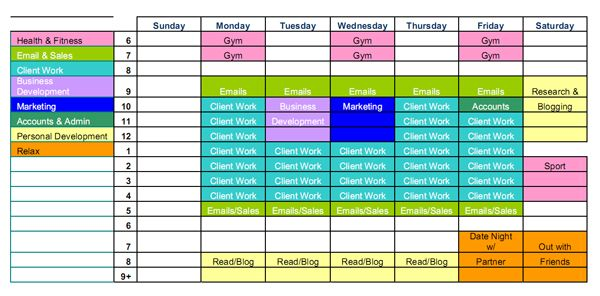 Time Management Tips for the Busy Freelance Designer Fuel Your - management calendar template