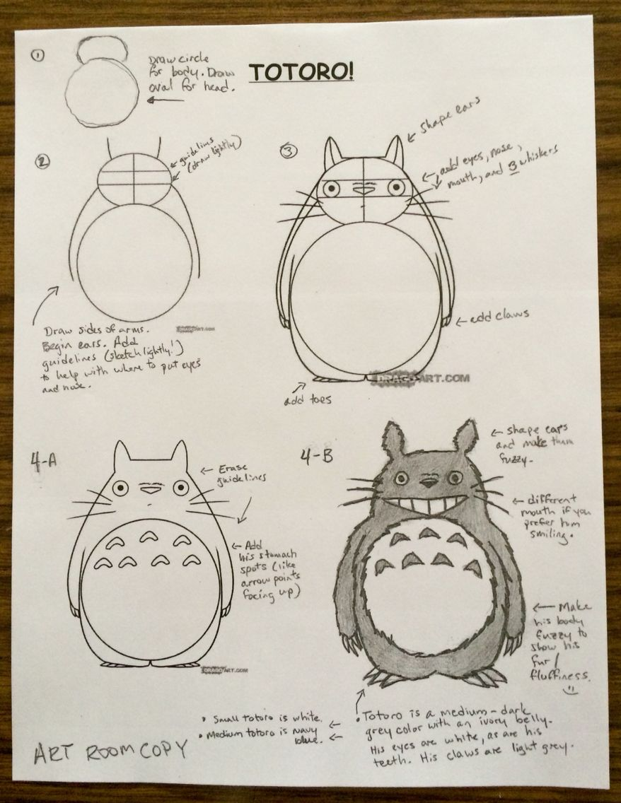 How To Draw Totoro Goes With Anime Miyazaki Unit Totoro Art Totoro Nose Drawing [ 1136 x 878 Pixel ]