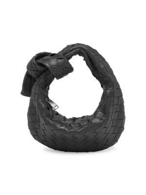 BOTTEGA VENETA Mini Knotted Leather Hobo Bag bags