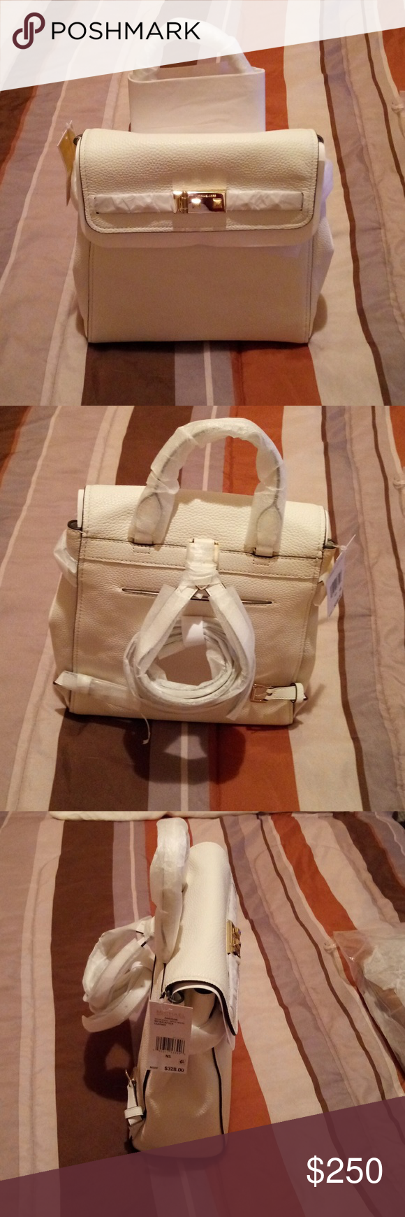 Michael Kors Addison MD Leather Backpack Brand new MK Addison leather medium backpack with multiple...