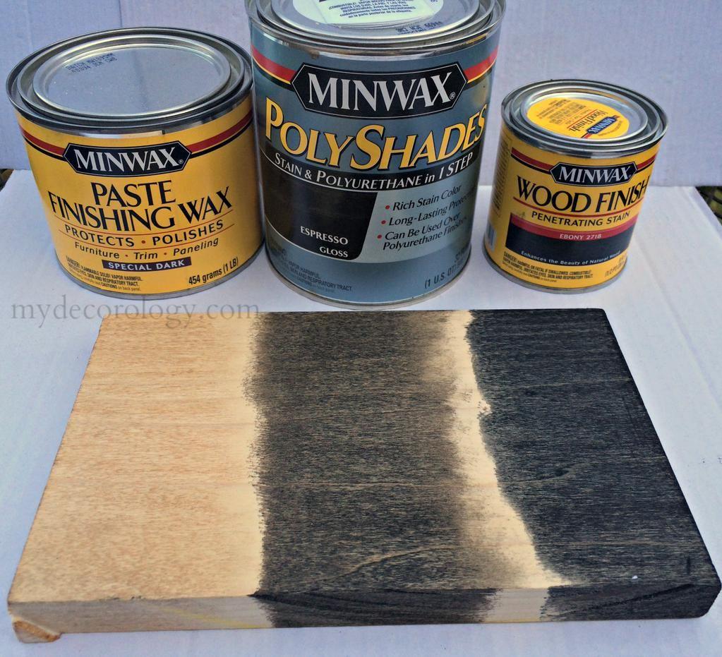 Minwax onyx vs ebony stain
