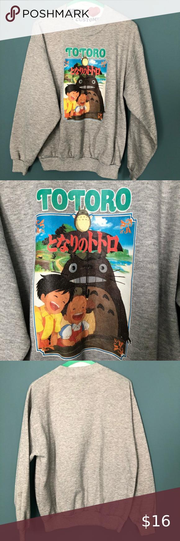Totoro Crewneck In 2020 Sweatshirt Tops Sweatshirts Hoodie Sweatshirts [ 1740 x 580 Pixel ]