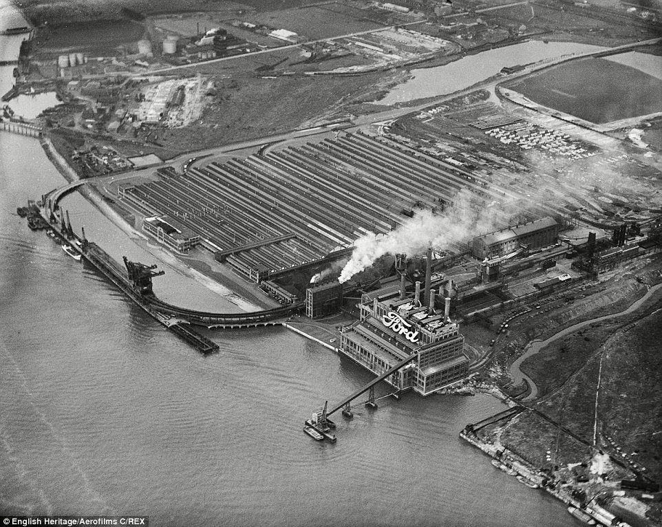 The Ford Plant In Dagenham Essex Is Pictured In 1939 Eight Years