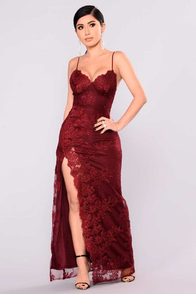 d15c5e054 A Night In Tokyo Lace Dress - Burgundy | Fashion Nova | Dresses ...
