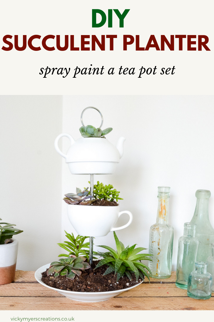 Planter DIY Make a succulent table centerpiece with former crockery, to make a fabulous upcycled indoor DIY planterMake a succulent table centerpiece with former crockery, to make a fabulous upcycled indoor DIY planter