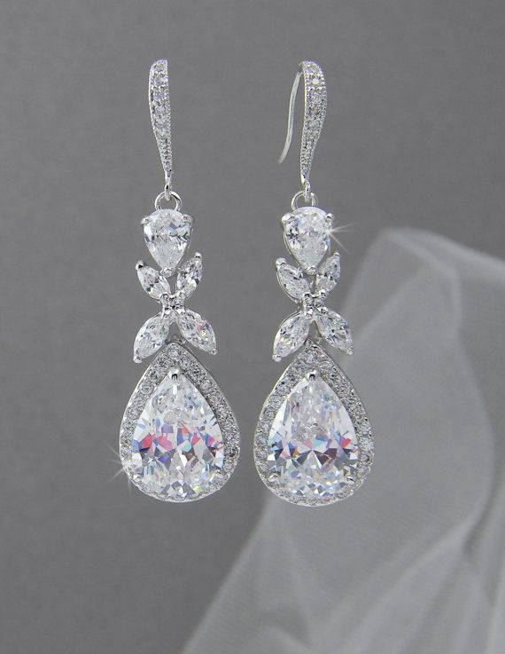 Crystal Bridal Earrings Rose Gold Wedding Door Crystalavenues