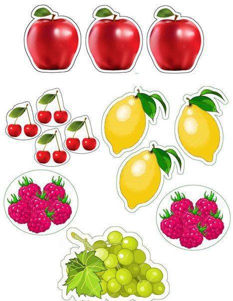 фрукты ягоды овощи из бумаги: 16 тыс изображений найдено в ...